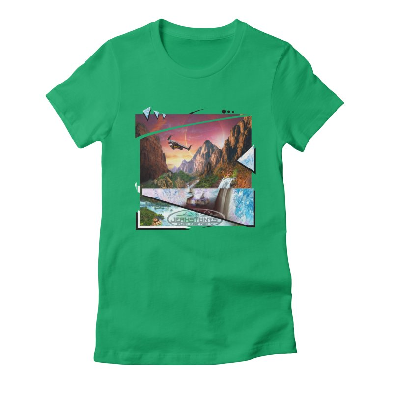 JERKSTUNTS WINGSUIT CYBERTECH HARD REMIX Women's Fitted T-Shirt by ExploreDaily's Artist Shop