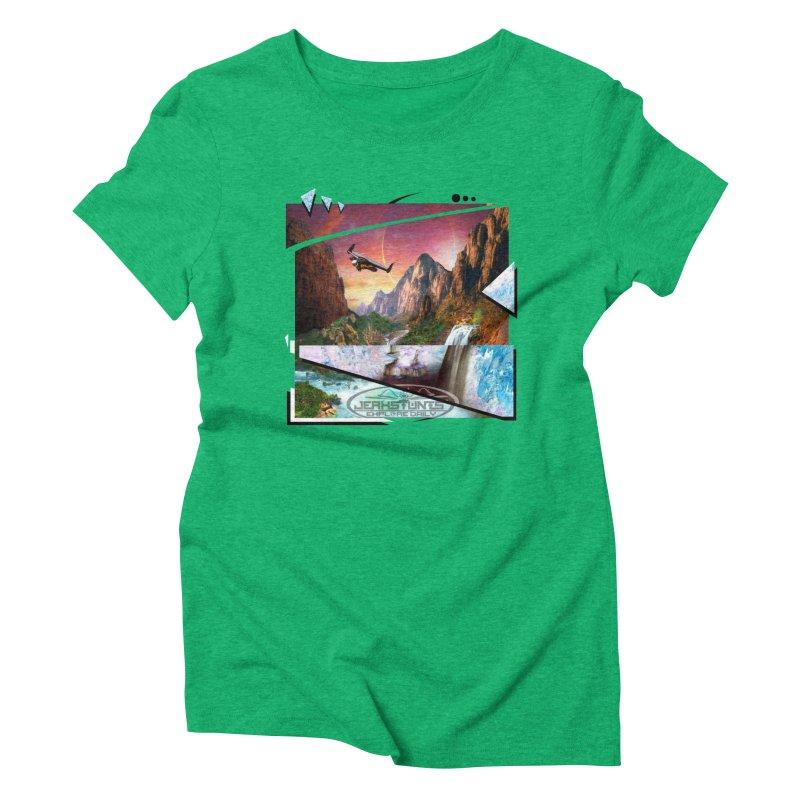 JERKSTUNTS WINGSUIT CYBERTECH HARD REMIX Women's Triblend T-Shirt by ExploreDaily's Artist Shop