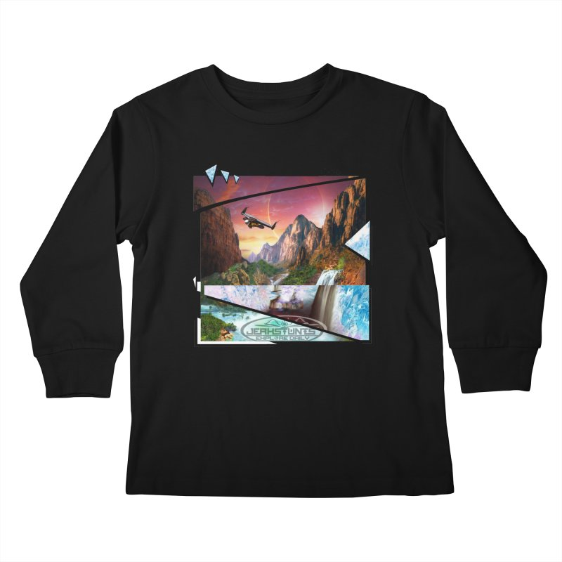 JERKSTUNTS WINGSUIT CYBERTECH HARD REMIX Kids Longsleeve T-Shirt by ExploreDaily's Artist Shop