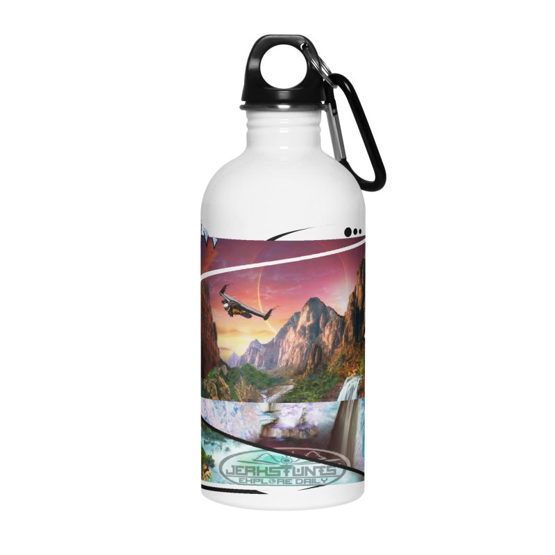 JERKSTUNTS WINGSUIT CYBERTECH HARD REMIX Accessories Water Bottle by ExploreDaily's Artist Shop