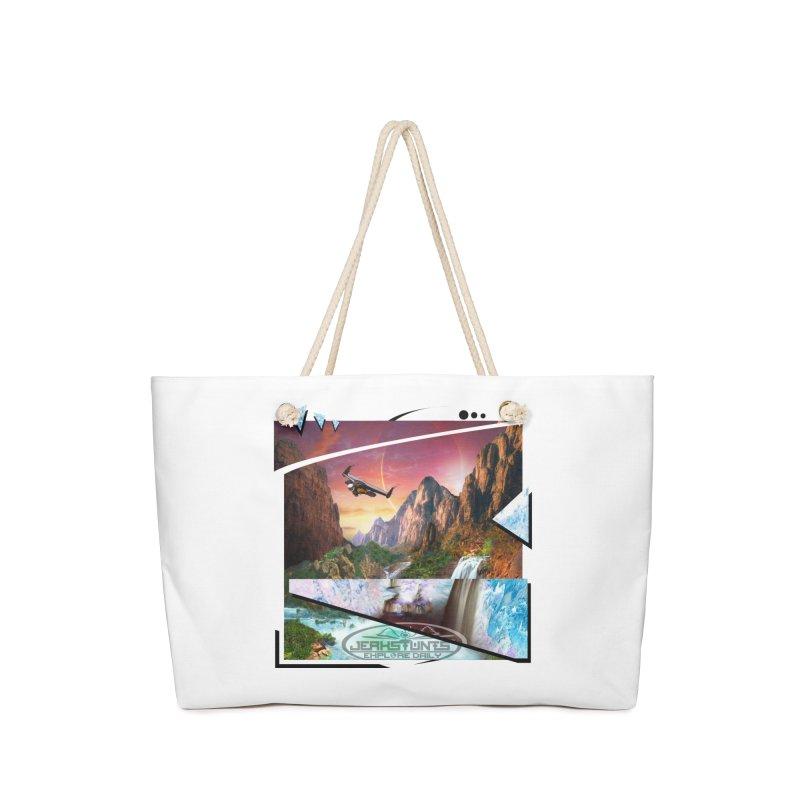 JERKSTUNTS WINGSUIT CYBERTECH HARD REMIX Accessories Weekender Bag Bag by ExploreDaily's Artist Shop