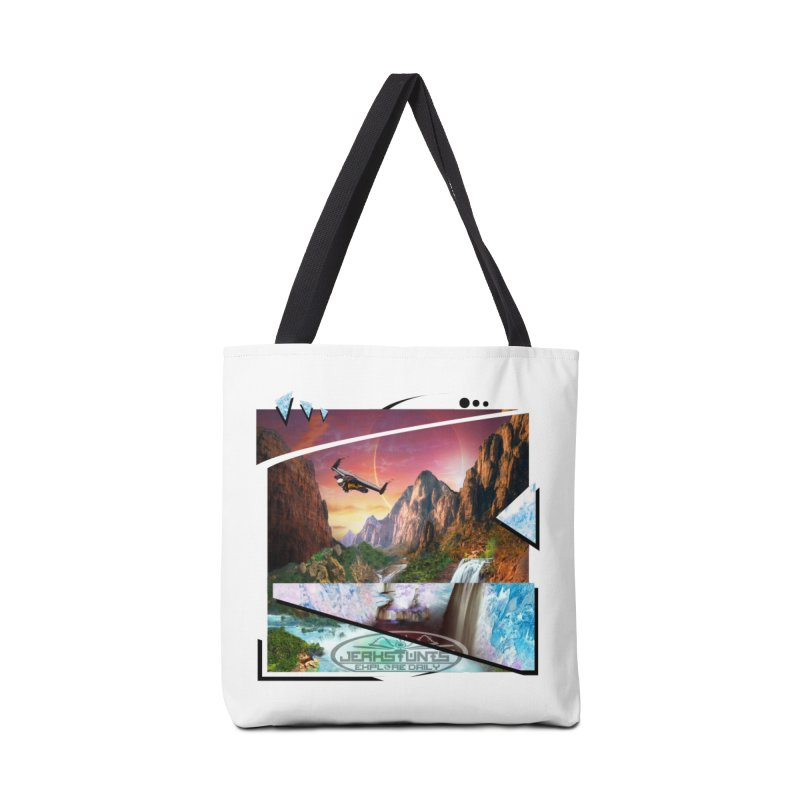 JERKSTUNTS WINGSUIT CYBERTECH HARD REMIX Accessories Tote Bag Bag by ExploreDaily's Artist Shop