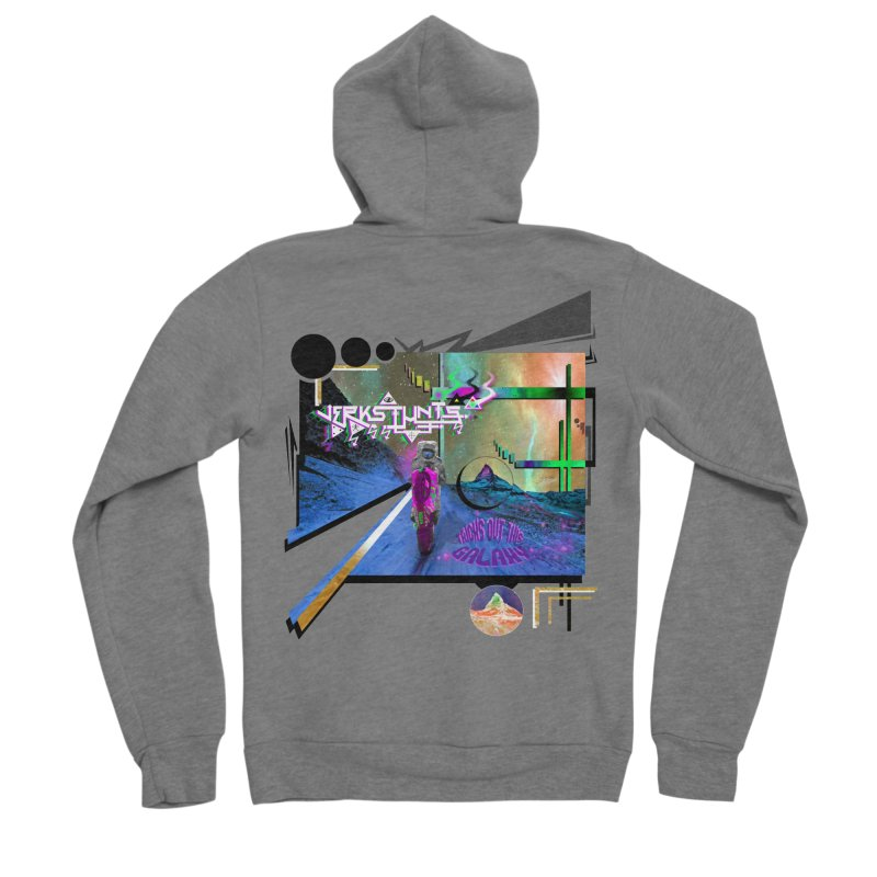 JERKSTUNTS TRICKS OUT THIS GALAXY Women's Sponge Fleece Zip-Up Hoody by ExploreDaily's Artist Shop