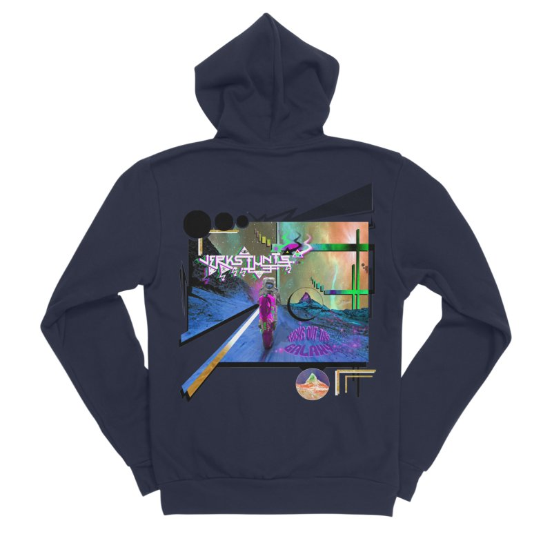 JERKSTUNTS TRICKS OUT THIS GALAXY Men's Sponge Fleece Zip-Up Hoody by ExploreDaily's Artist Shop