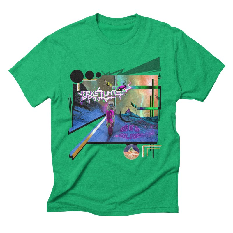 JERKSTUNTS TRICKS OUT THIS GALAXY Men's Triblend T-Shirt by ExploreDaily's Artist Shop