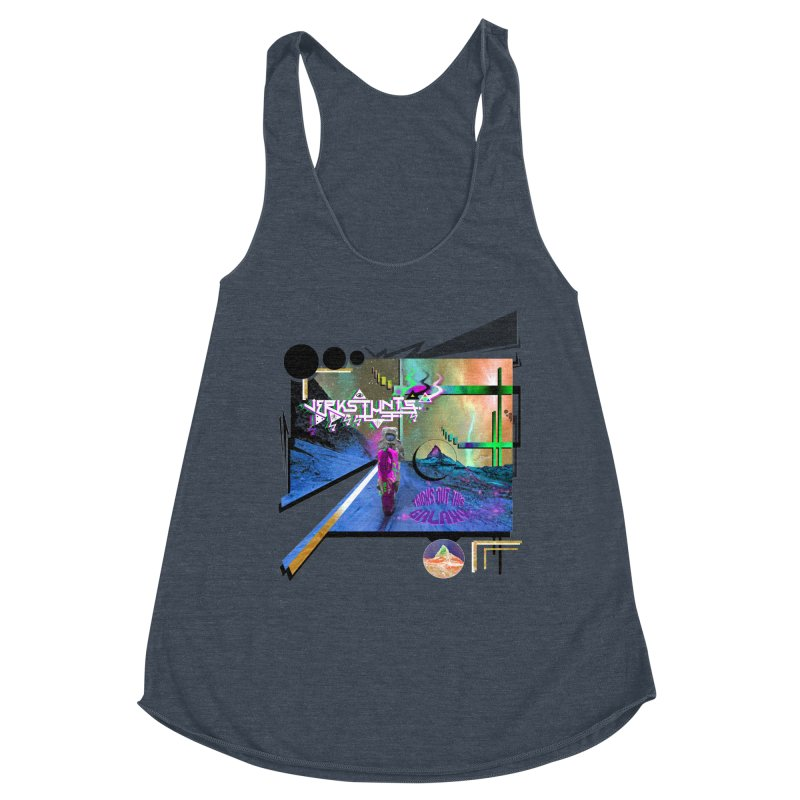 JERKSTUNTS TRICKS OUT THIS GALAXY Women's Racerback Triblend Tank by ExploreDaily's Artist Shop