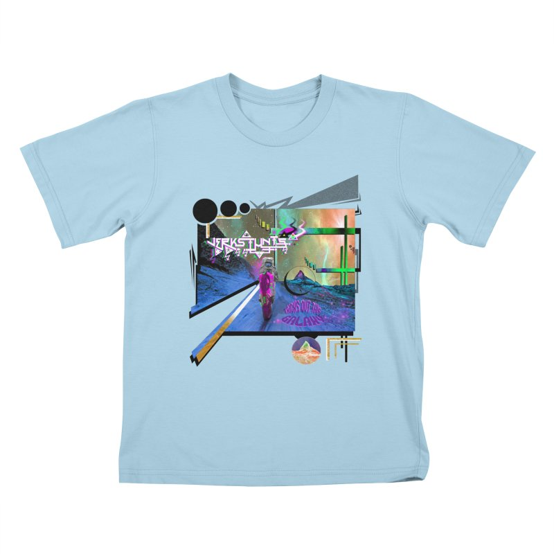 JERKSTUNTS TRICKS OUT THIS GALAXY Kids T-Shirt by ExploreDaily's Artist Shop