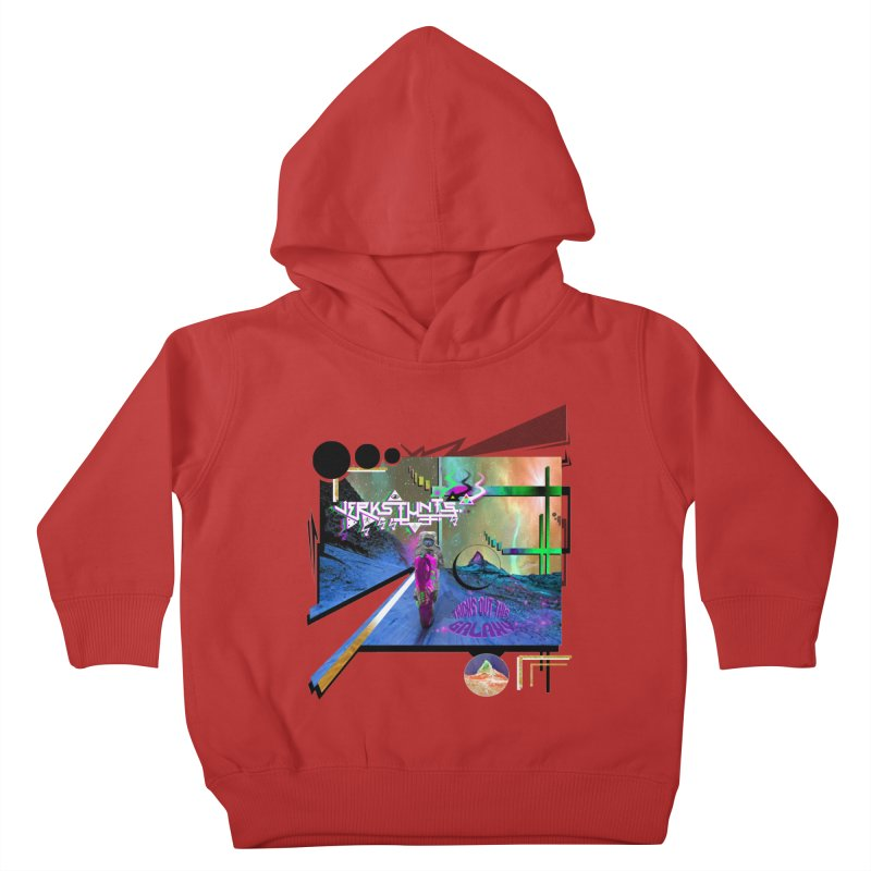 JERKSTUNTS TRICKS OUT THIS GALAXY Kids Toddler Pullover Hoody by ExploreDaily's Artist Shop