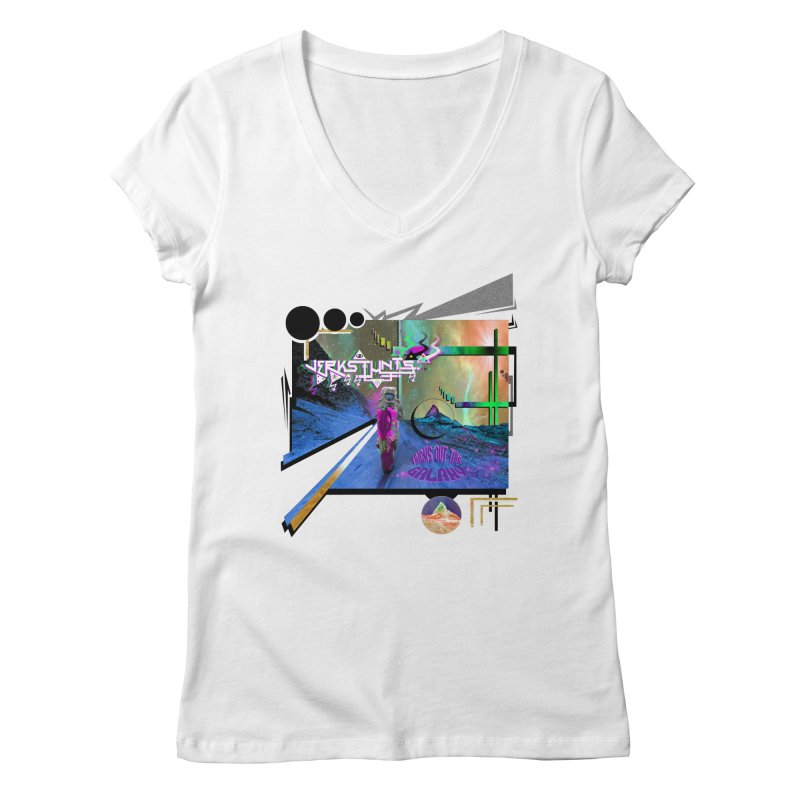 JERKSTUNTS TRICKS OUT THIS GALAXY Women's Regular V-Neck by ExploreDaily's Artist Shop