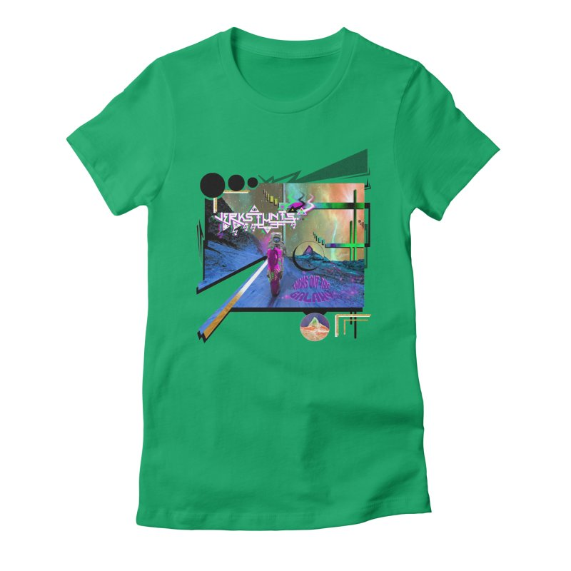 JERKSTUNTS TRICKS OUT THIS GALAXY Women's Fitted T-Shirt by ExploreDaily's Artist Shop