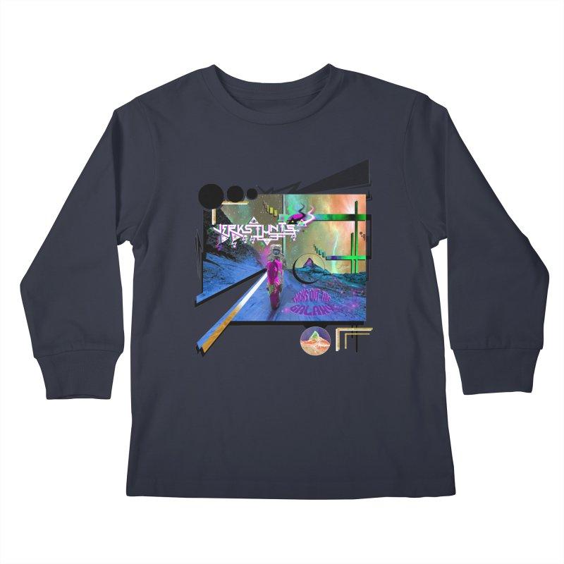 JERKSTUNTS TRICKS OUT THIS GALAXY Kids Longsleeve T-Shirt by ExploreDaily's Artist Shop
