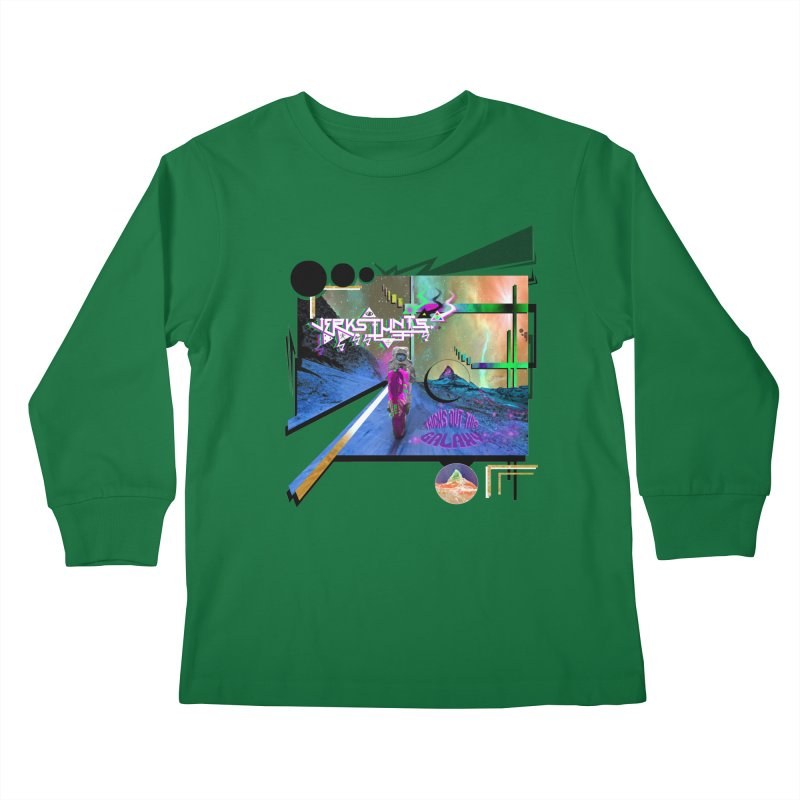 JERKSTUNTS TRICKS OUT THIS GALAXY Kids Longsleeve T-Shirt by ExploreDaily's Artist Shop