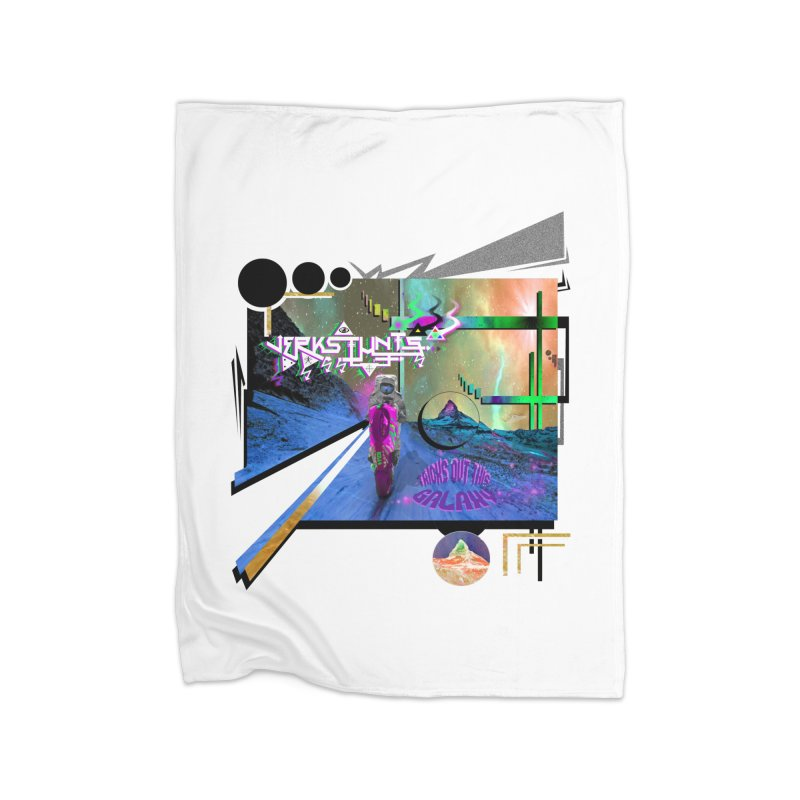 JERKSTUNTS TRICKS OUT THIS GALAXY Home Fleece Blanket Blanket by ExploreDaily's Artist Shop