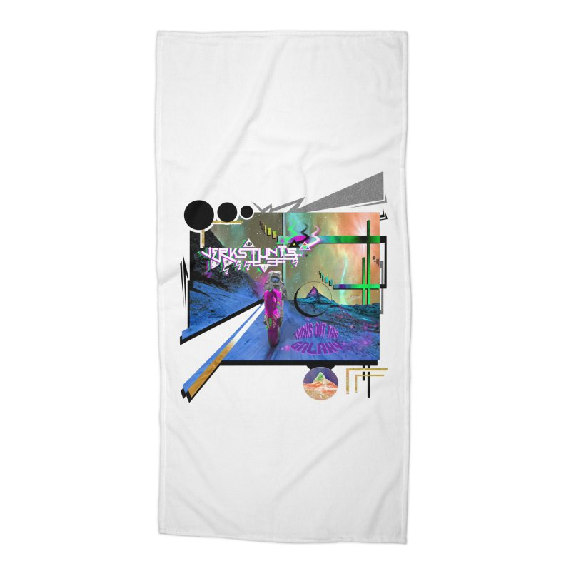 JERKSTUNTS TRICKS OUT THIS GALAXY Accessories Beach Towel by ExploreDaily's Artist Shop