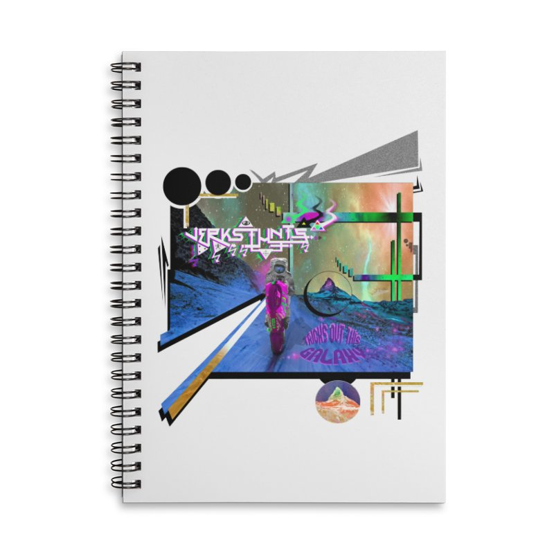 JERKSTUNTS TRICKS OUT THIS GALAXY Accessories Lined Spiral Notebook by ExploreDaily's Artist Shop