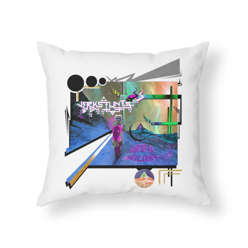 JERKSTUNTS TRICKS OUT THIS GALAXY Home Throw Pillow by ExploreDaily's Artist Shop