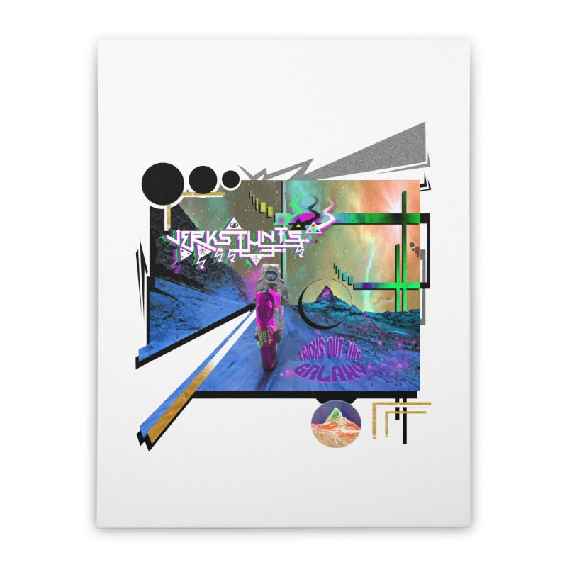 JERKSTUNTS TRICKS OUT THIS GALAXY Home Stretched Canvas by ExploreDaily's Artist Shop