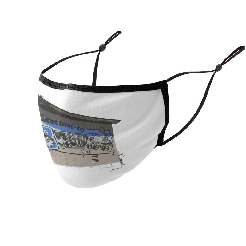 Welcome to Brunswick, Georgia Accessories Face Mask by Explore Jekyll Island Official Gear
