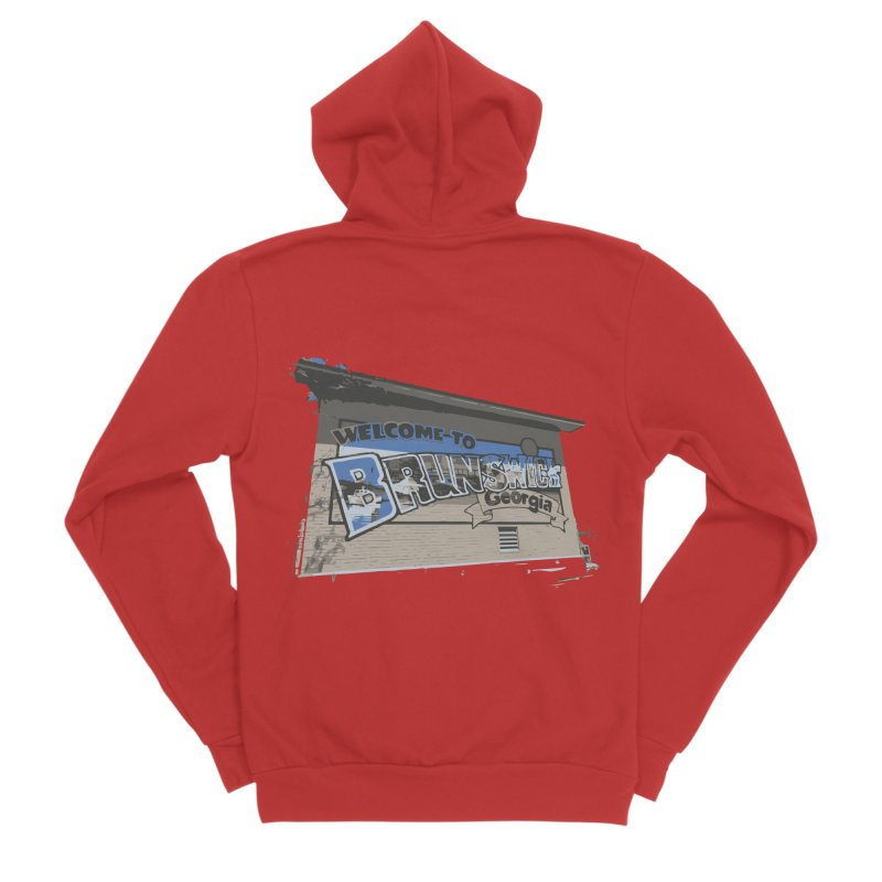 Welcome to Brunswick, Georgia Women's Zip-Up Hoody by Explore Jekyll Island Official Gear