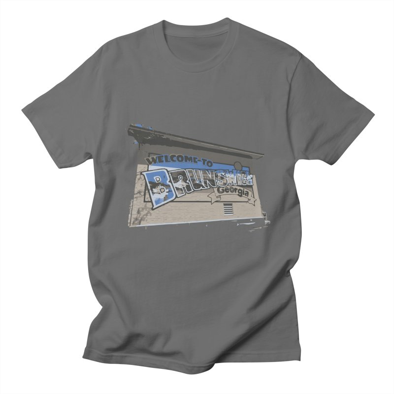 Welcome to Brunswick, Georgia Men's T-Shirt by Explore Jekyll Island Official Gear