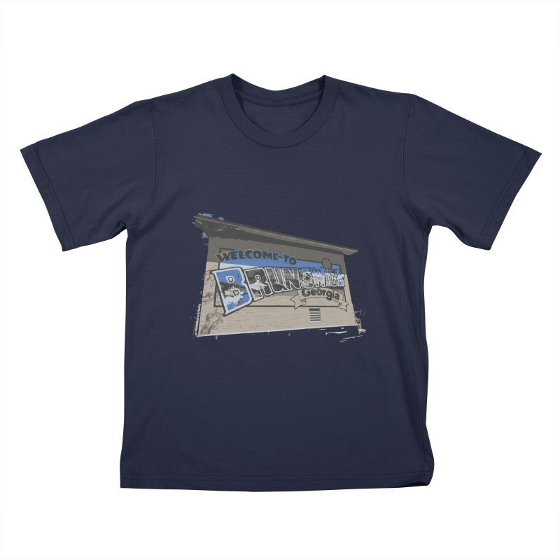 Welcome to Brunswick, Georgia Kids T-Shirt by Explore Jekyll Island Official Gear