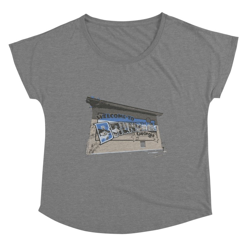 Welcome to Brunswick, Georgia Women's Scoop Neck by Explore Jekyll Island Official Gear