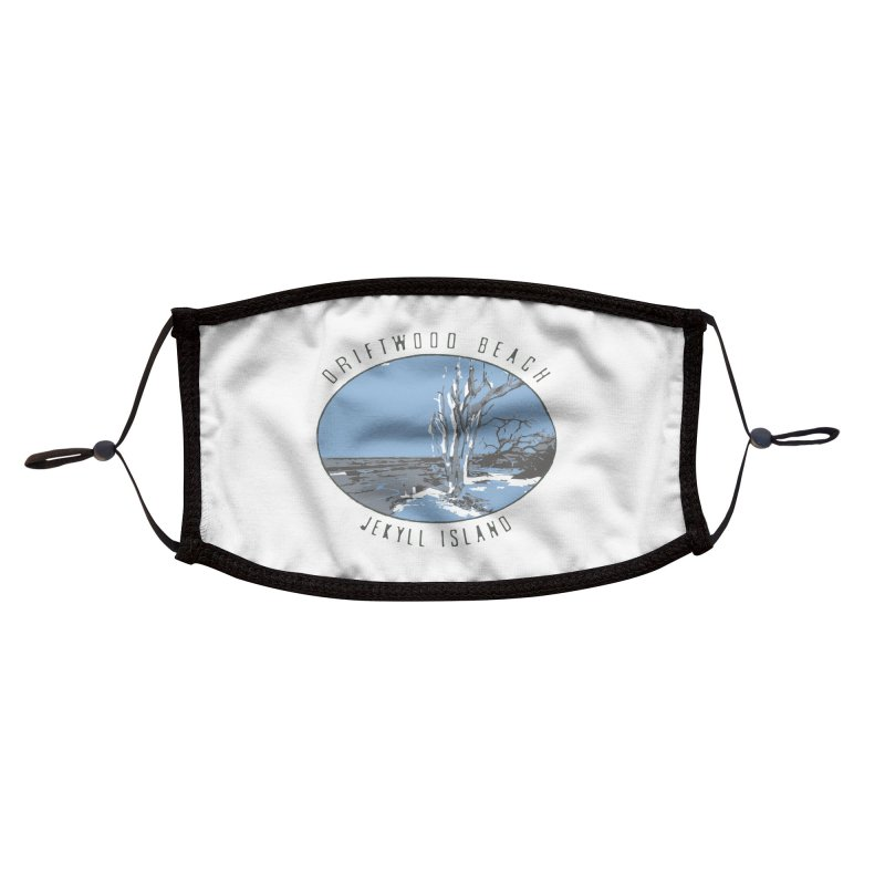 Driftwood Beach Jekyll Island Accessories Face Mask by Explore Jekyll Island Official Gear