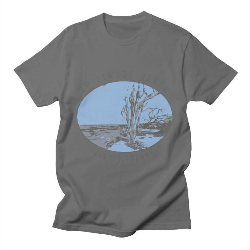 Driftwood Beach Jekyll Island Men's T-Shirt by Explore Jekyll Island Official Gear