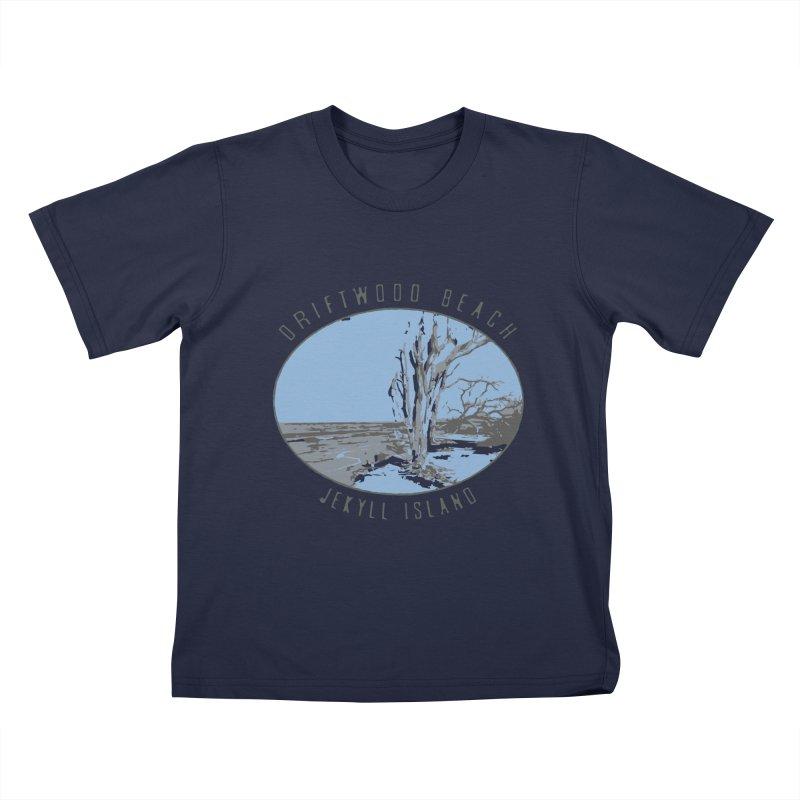 Driftwood Beach Jekyll Island Kids T-Shirt by Explore Jekyll Island Official Gear