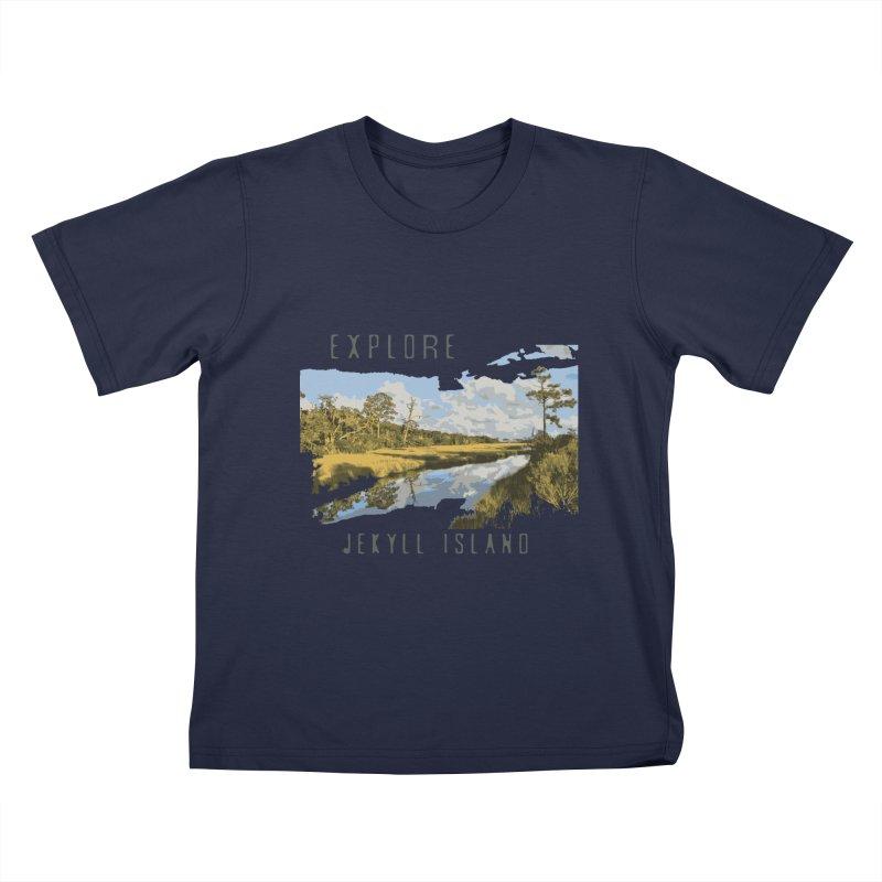 Explore Jekyll Island Kids T-Shirt by Explore Jekyll Island Official Gear