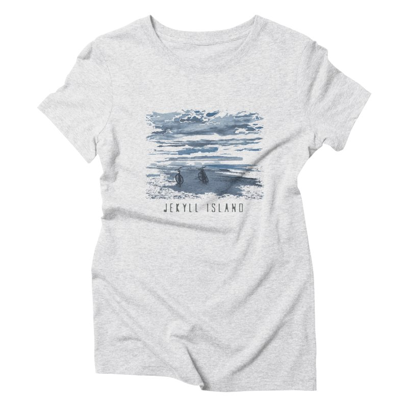 Jekyll Island Bicycles on Beach Women's T-Shirt by Explore Jekyll Island Official Gear