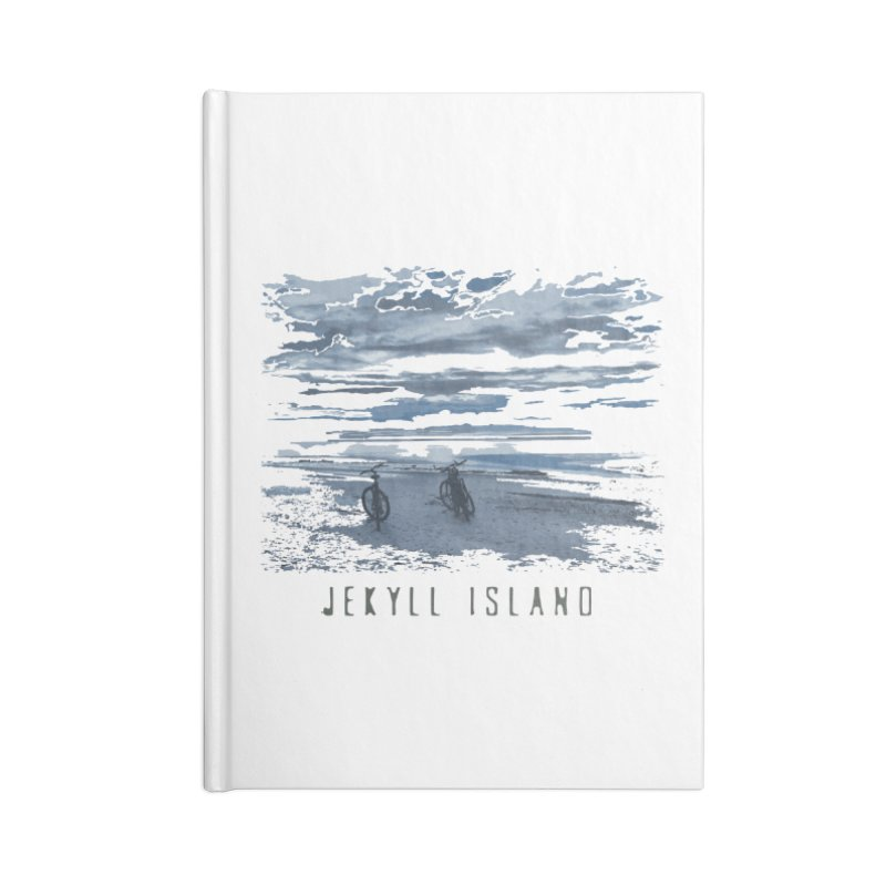 Jekyll Island Bicycles on Beach Accessories Notebook by Explore Jekyll Island Official Gear