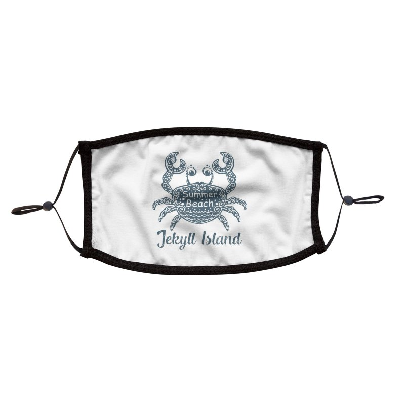 Jekyll Island Summer Beach Accessories Face Mask by Explore Jekyll Island Official Gear