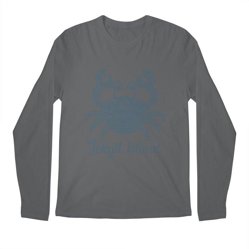Jekyll Island Summer Beach Men's Longsleeve T-Shirt by Explore Jekyll Island Official Gear