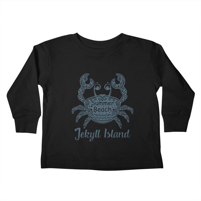 Jekyll Island Summer Beach Kids Toddler Longsleeve T-Shirt by Explore Jekyll Island Official Gear