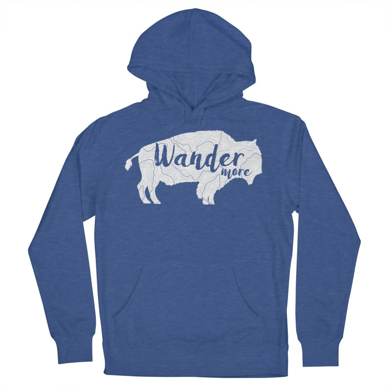 The Wandering Buffalo Men's French Terry Pullover Hoody by Wanderluster