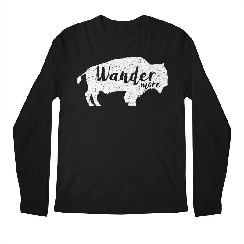 The Wandering Buffalo Men's Regular Longsleeve T-Shirt by Wanderluster