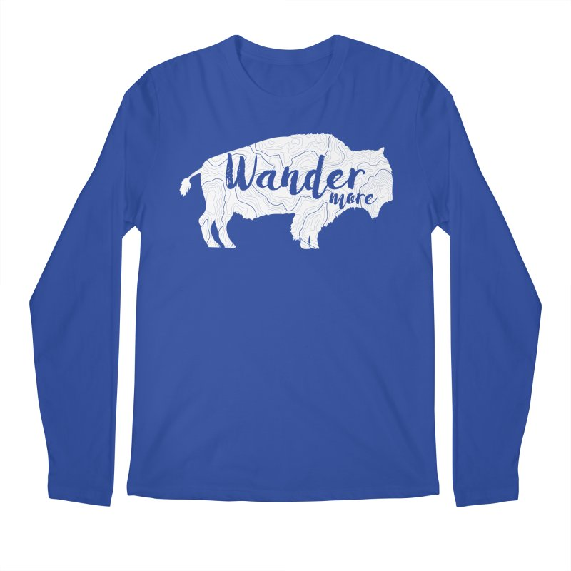 The Wandering Buffalo Men's Regular Longsleeve T-Shirt by Wanderluster