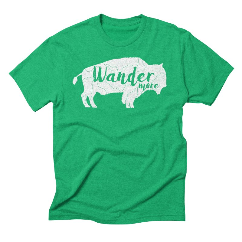 The Wandering Buffalo Men's Triblend T-Shirt by Wanderluster