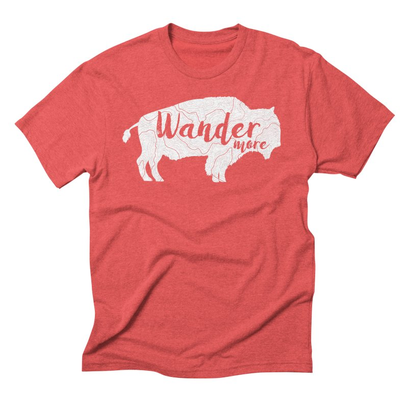 The Wandering Buffalo Men's Triblend T-Shirt by Wanderluster