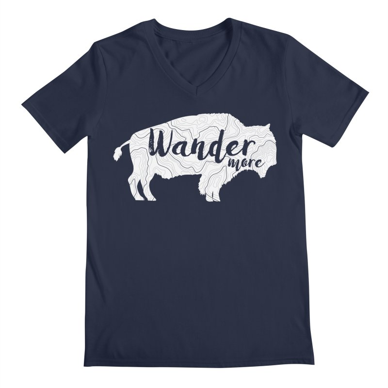 The Wandering Buffalo Men's Regular V-Neck by Wanderluster