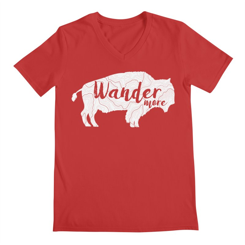 The Wandering Buffalo Men's V-Neck by Wanderluster