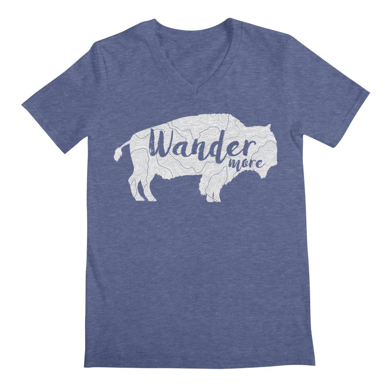 The Wandering Buffalo Men's Regular V-Neck by Wanderluster