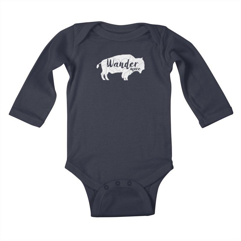 The Wandering Buffalo Kids Baby Longsleeve Bodysuit by Wanderluster