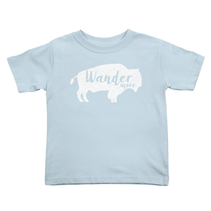 The Wandering Buffalo Kids Toddler T-Shirt by Wanderluster