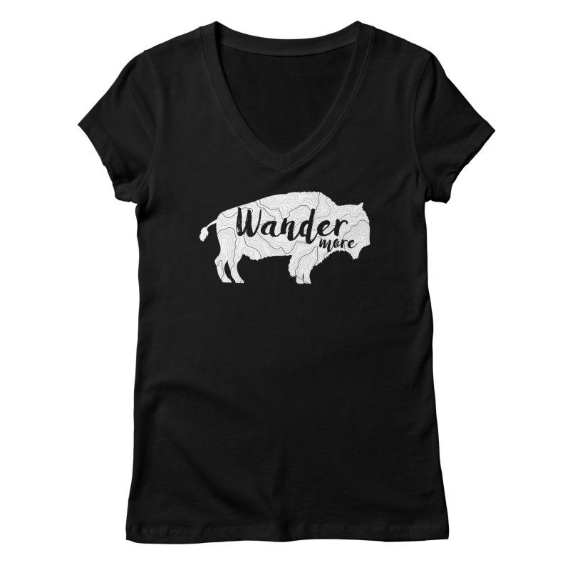 The Wandering Buffalo Women's V-Neck by Wanderluster