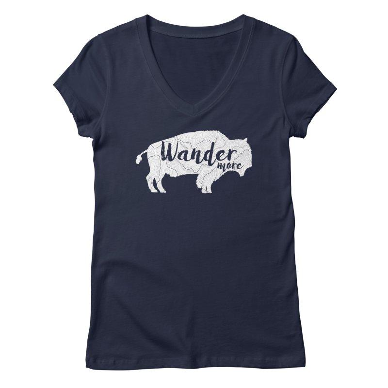 The Wandering Buffalo Women's Regular V-Neck by Wanderluster