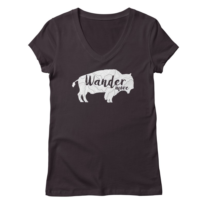 The Wandering Buffalo Women's Regular V-Neck by Wanderluster