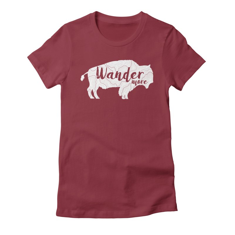 The Wandering Buffalo Women's Fitted T-Shirt by Wanderluster