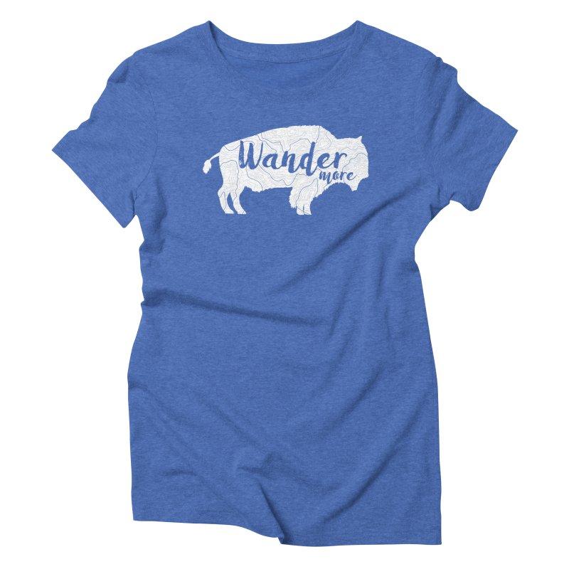 The Wandering Buffalo Women's Triblend T-Shirt by Wanderluster